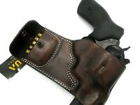 TAGUA Dark Brown Leather RH OWB Belt Holster + Ammo Pouch for RUGER GP100 357 44