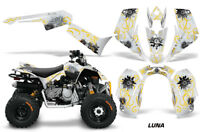 ATV Graphics Kit Quad Decal Sticker Wrap For Can-Am DS90 2007-2018 LUNA YELLOW