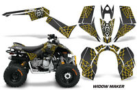 ATV Graphics Kit Quad Decal Sticker Wrap For Can-Am DS90 2007-2018 WIDOW YLW BLK