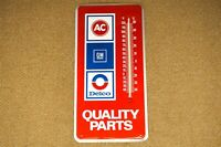 NOS GM AC Delco Quality Parts Thermometer Single Sided Sign
