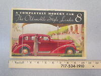 Vintage 1934 Oldsmobile Olds Eight (8) car brochure / 1930s sales literature