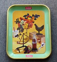 Rare 1957 Coca-Cola COKE French Canadian 'rooster' serving tray FREE SHIPPING!