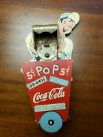 VINTAGE COCA COLA Soda Jerk BOTTLE OPENER Rare Memorabilia Original nd COKE