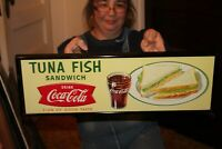Vintage 1959 Coca Cola Tuna Fish Sandwich Fishtail Restaurant Soda Pop 23