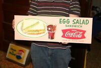 Vintage 1959 Coca Cola Egg Salad Sandwich Fishtail Restaurant Soda Pop 22