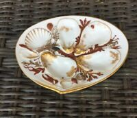 Antique UPW Union Porcelain Works Clam Shell Oyster Plate (D) Patent 1881