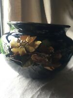 WELLER DICKENS WARE ANTIQUE JARDINIERE ART POTTERY Hand Painted Intaglio Floral