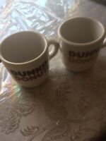 Vintage set 2 Dunkin' Donuts Coffee Mugs  Mayer China Co Beaver Falls PA USA 380