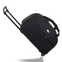 24quot; Rolling Wheeled Tote Duffle Bag Carry On Luggage Trolley Bag Travel Suitcase