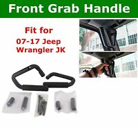 Front Grab Handle Bar Black for 2007-2017 Jeep Wrangler JK 2Dr&4 Door SUV ATV