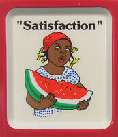Reid's Seeds ~ Embossed Tin Thermometer ~ Negro Woman holding a Watermelon Slice