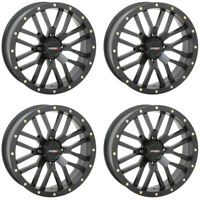 4 ATV/UTV Wheels Set 14in System 3 ST-3 Matte Black 4/110 5+2 IRS