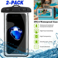 2 x Waterproof Phone Case Watertight Underwater Phone Pouch Dry Bag for Samsung $7.97