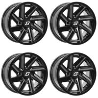 4 ATV/UTV Wheels Set 14in Sedona Chopper Gloss Black 4/110 5+2 IRS