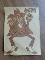 Vintage 70s General Mills Count Chocula Cereal Box IronOn Transfer Decal Sticker