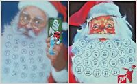 Vintage 1988 and 1989 7-Up Santa Claus Advent Calendars -  You Choose
