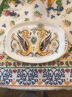 DERUTA Canape Tray, Appetizer Dish Italian Pottery, Made In Italy, New With Tag