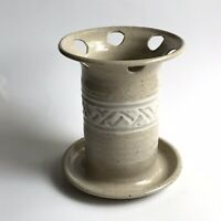 REITZ Studio Pottery Functional Art Kentucky Artisan Stoneware Toothbrush Holder