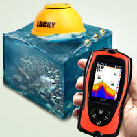 Portable Fish Finder LCD Wireless Remote Sonar Sensor Transducer Fishfinder 45M