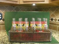 PEPSI Cola Wood Crate Wooden Box ~ With original Pepsi 6pk bottles and sleeves!!