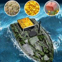 Mini Wireless RC Remote Control Fish Finder Bait Boat LED Light For Pools Lakes