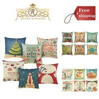 Christmas Throw Pillow Covers Sofa Couch Cushion Cover Festive Home Decor 6 Pack