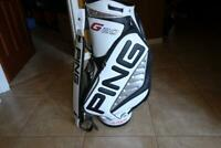 New Limited Edition White/Black/Red Ping G20/i20 2020 Tour Staff Golf Bag
