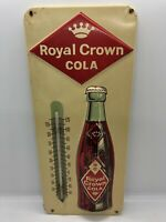 Vintage Antique Royal Crown Cola RC Soda Advertising Embossed Tin Thermometer