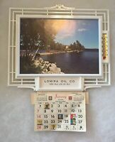 "Lomira Wisconsin Oil Company 1968 Calendar Thermometer Oil Gas OLD 11"" X 9"" Old!"