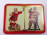 1994 Vintage Coca-Cola Santa Claus Nostalgic Playing Cards Tin W/2 Decks-Sealed