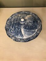 LIBERTY BLUE COVERED SERVING DISH BOWL STAFFORDSHIRE IRONSTONE BOSTON TEA PARTY