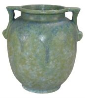 Roseville Pottery Carnelian II Blue And Green Ceramic Vase 336-9