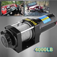 4000LB Electric Recovery Winch ATV Trailer Truck Towing 12V Boat Pound 2 Ton