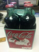 FULL 4-Coca Cola 9.3 oz. glass bottle Limited Edition vintage replica W Carrier