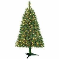 Holiday Time 4ft Pre-lit Indiana Spruce Christmas Tree Pre Lit Clear Lights
