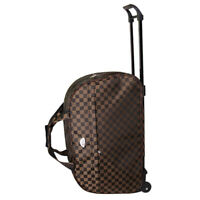 24quot; Rolling Wheeled Duffle Bag Tote Carry On Travel Suitcase Luggage Lighweight