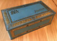Vintage Johnston's Chocolate Metal Tin À la Carte Chocolates Candy Box HingedLid