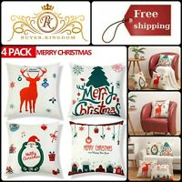 Christmas Sofa Pillow Cushion Covers Decorative Square Pillowcases New 18 Inches