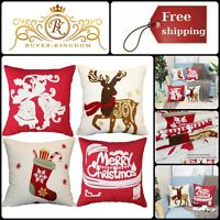 Christmas Pillow Case Covers Farmhouse Winter Holiday Festival Decor 18 inch New