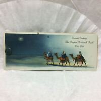 Vtg Celluloid Ink Blotter Christmas Advertising The Peoples National Lodi Ohio