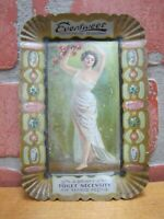 Antique EVERSWEET DAINTY TOILET NECESSITY Ad Tin Tray H D BEACH Co Tip Card