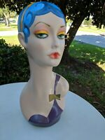 Female Hand Painted Mannequin Head For Wig And Hat Earring Display 19