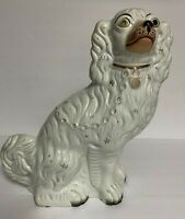 Antique Staffordshire Spaniel Dog Figurine Statue~12 1/2