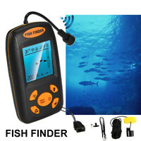 Portable Fish Finder Depth Echo Sonar Alarm Sensor Transducer Fishfinder US Fast