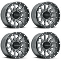 4 ATV/UTV Wheels Set 14in Raceline Trophy Gray 4/110 5+2 IRS