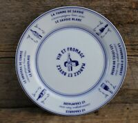 Set of Four Pillivuyt Porcelaine Wine & Cheese French Restaurant Bread Plates