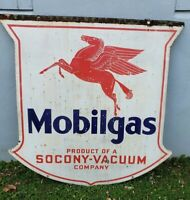 1932 MOBILE GAS SOCONY VACUUM DOUBLE SIDED PORCELAIN 48