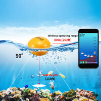 Lixada 36M/118ft Wireless Remote Fish Finder Echo Sounder For IOS Android Q9X6