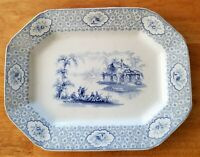 Staffordshire Transferware Large Blue Platter - 1839