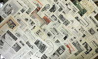 Huge Lot Vintage ADS / ADVERTISING ~ ANTIQUE CONSTRUCTION RELATED ADS ~ Builders
